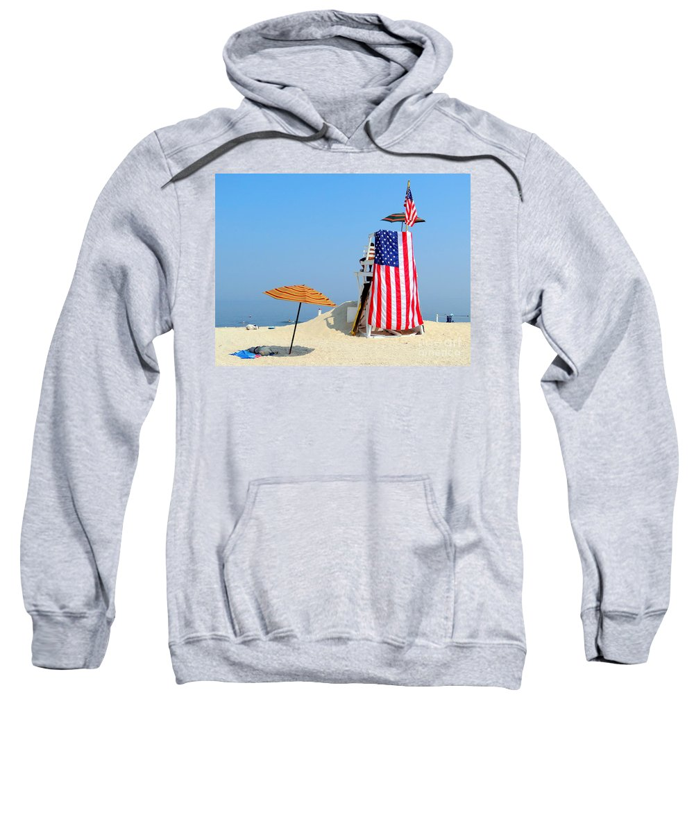 Nature Sweatshirt featuring the photograph Lifeguard 9-11 Tribute by Ed Weidman