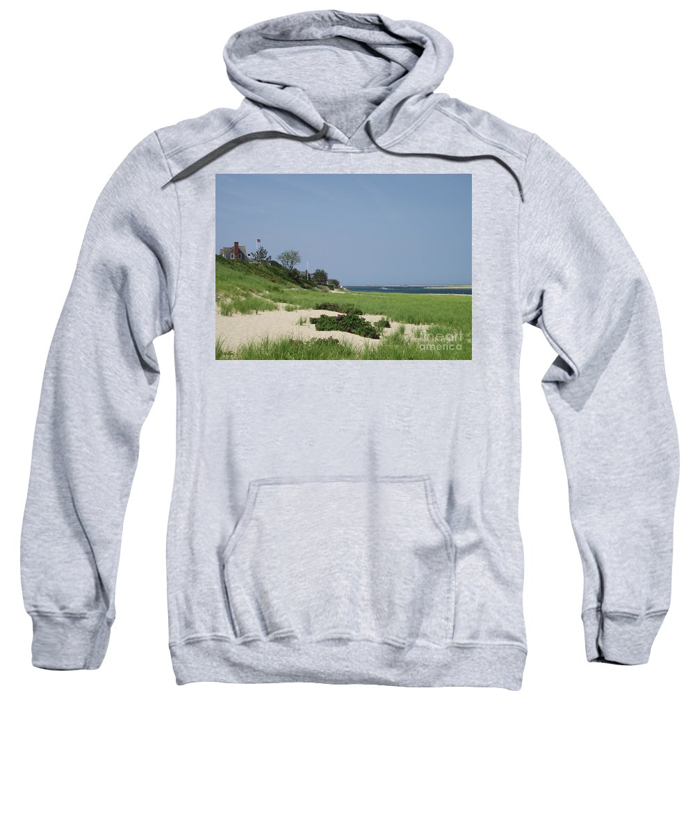 Beach Sweatshirt featuring the photograph Light House Beach by Michelle Welles