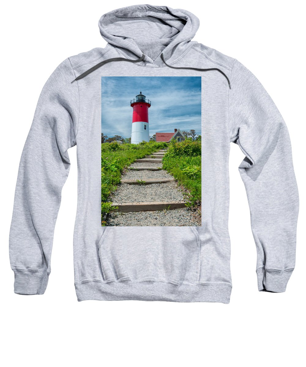Cape Cod Sweatshirt featuring the photograph Light Steps by Michael Blanchette