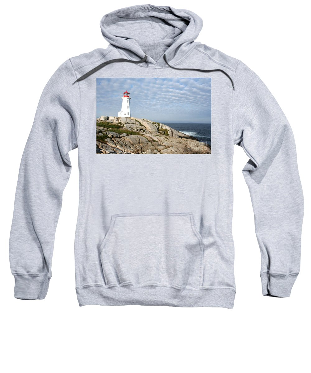 Lighthouse Sweatshirt featuring the photograph Lighthouse At Peggys Point Nova Scotia by Thomas Marchessault