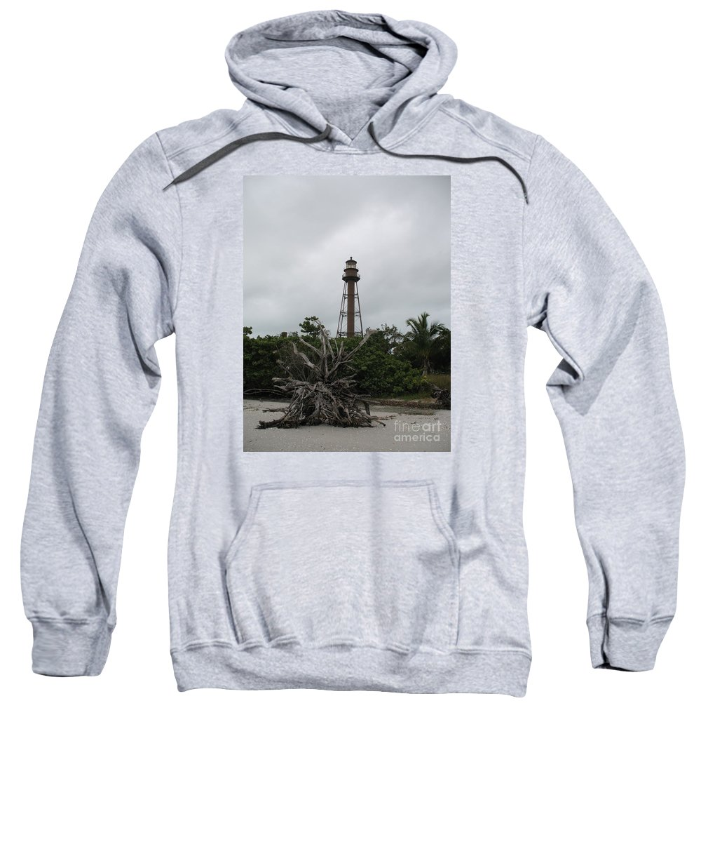 Ligthouse Sweatshirt featuring the photograph Lighthouse On Sanibel Island by Christiane Schulze Art And Photography