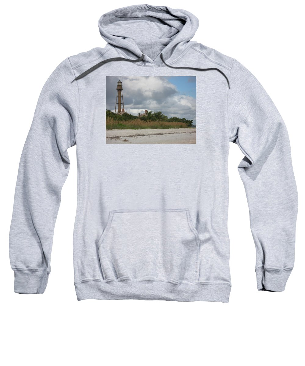 Ligthouse Sweatshirt featuring the photograph Sanibel Island Light by Christiane Schulze Art And Photography