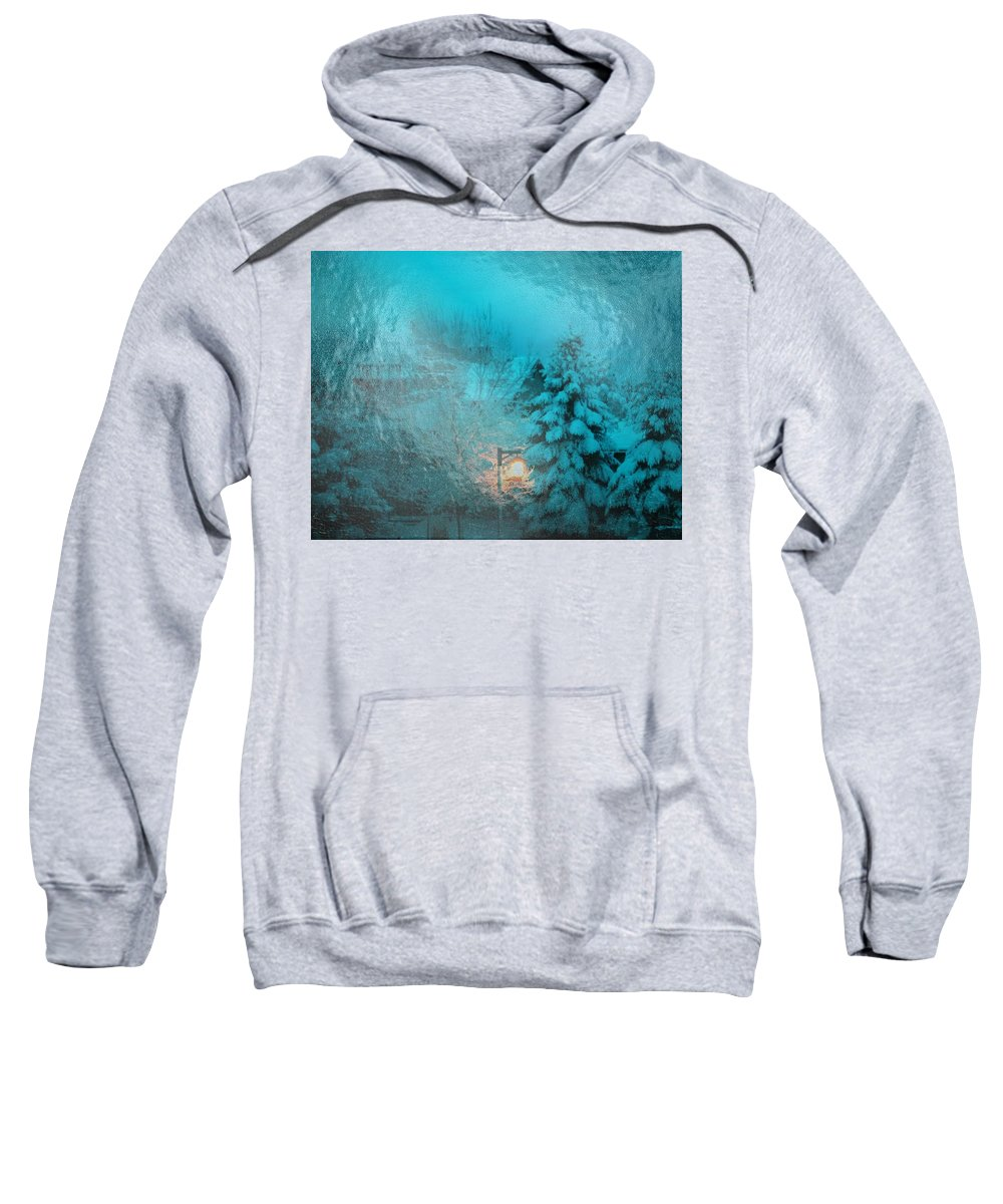 Light Sweatshirt featuring the digital art Lighting The Way Through A Frosted Dream by Michael Hurwitz