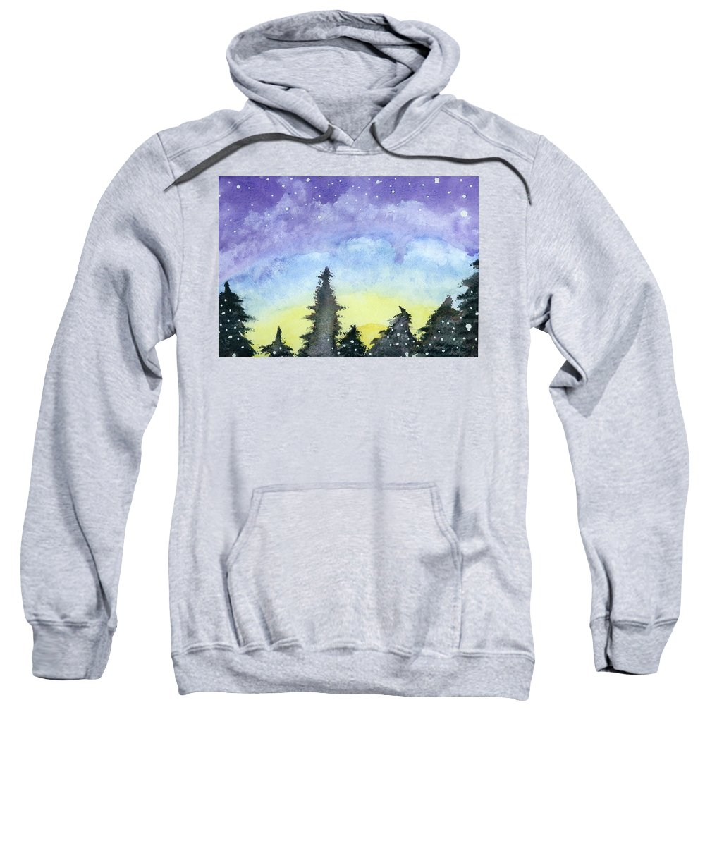 Landscape Sweatshirt featuring the painting Lights Of Life by Victor Vosen