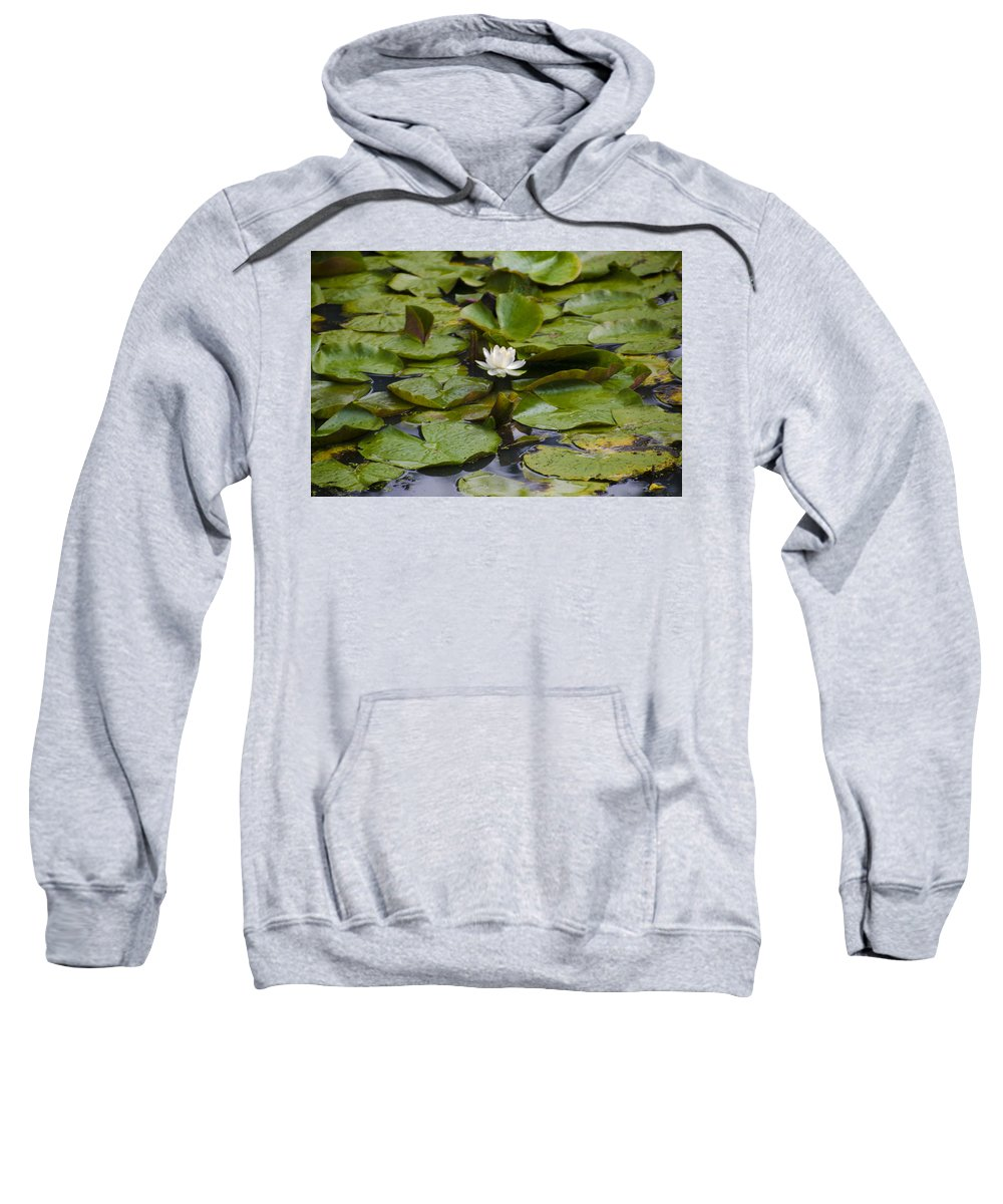 Lily Sweatshirt featuring the photograph Lily Pads by Bill Cannon