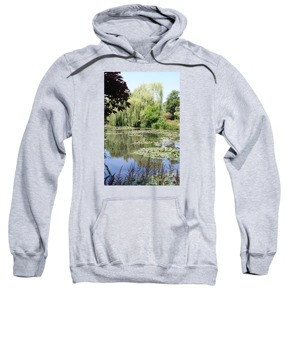 Liliy Sweatshirt featuring the photograph Lily Pond - Monets Garden - France by Christiane Schulze Art And Photography