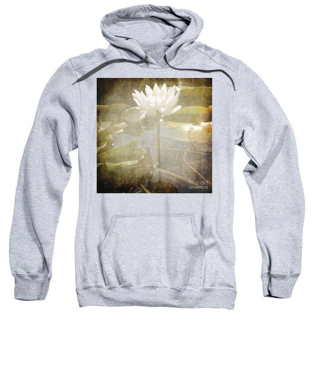Lily Sweatshirt featuring the photograph Lily Reflections by Sharon Elliott