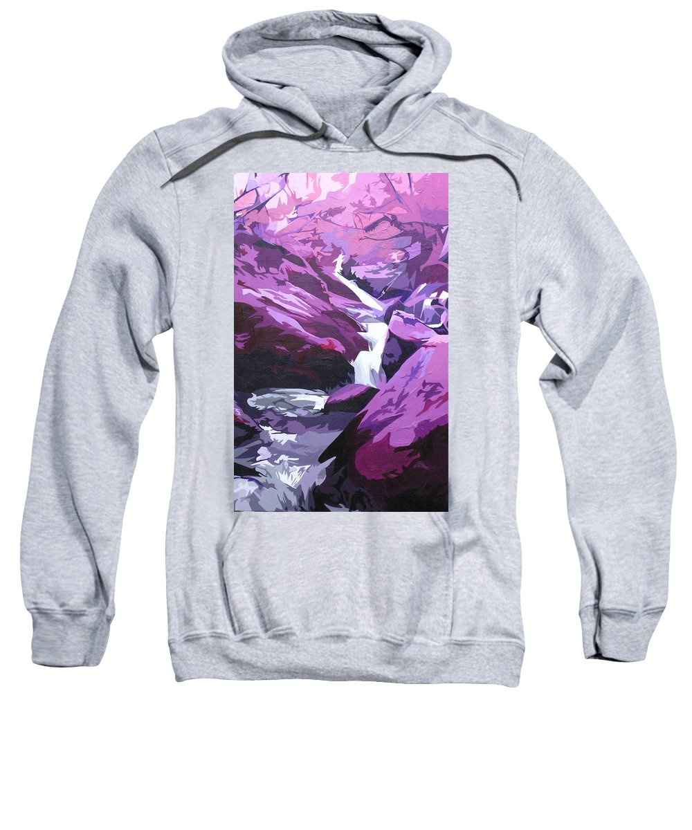 Creek Sweatshirt featuring the painting Limpy Creek by Joshua Morton