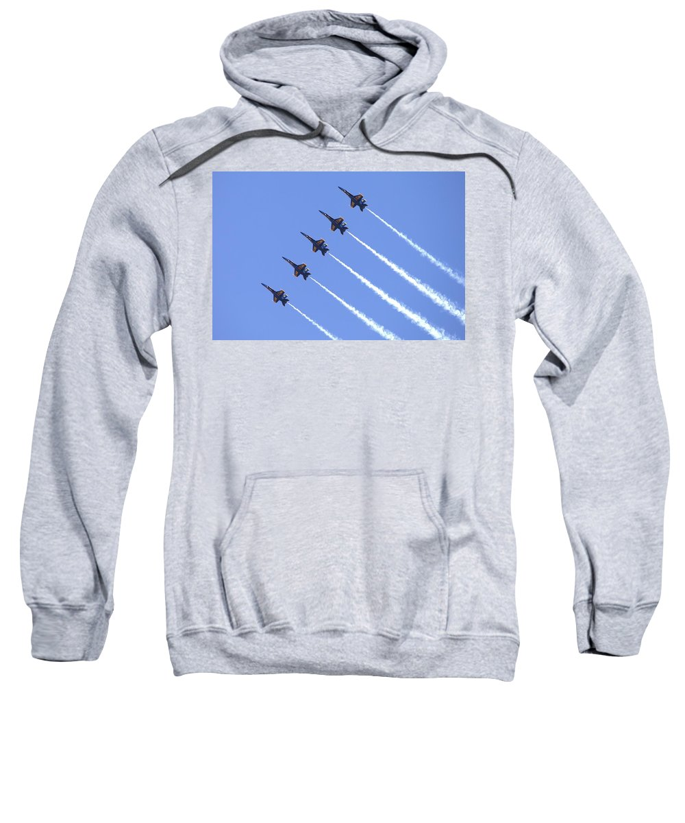 5032 Sweatshirt featuring the photograph Line Abreast Pass by Gordon Elwell
