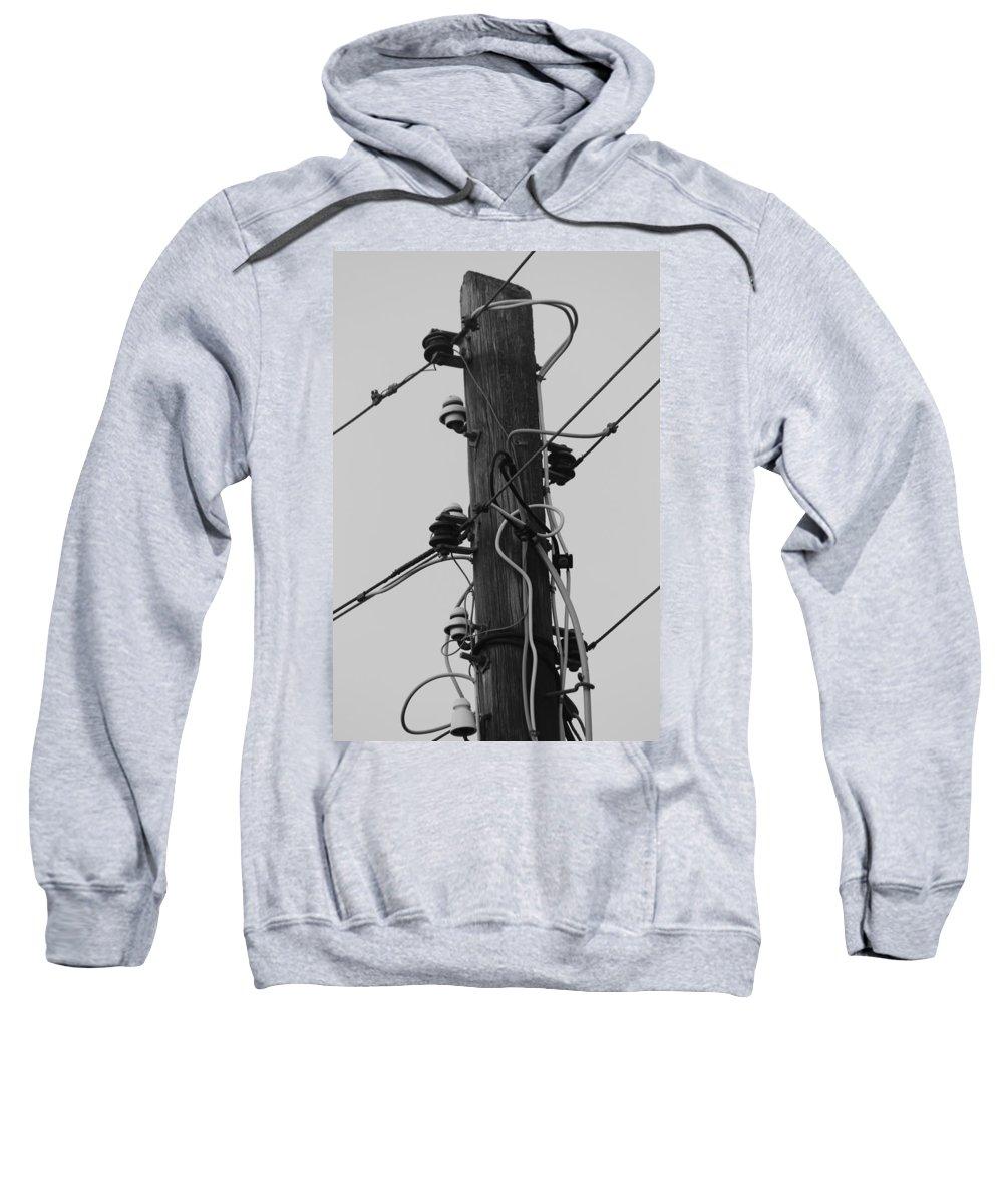 Telegraph Pole Sweatshirt featuring the photograph Lines Of Communication by Robert Phelan