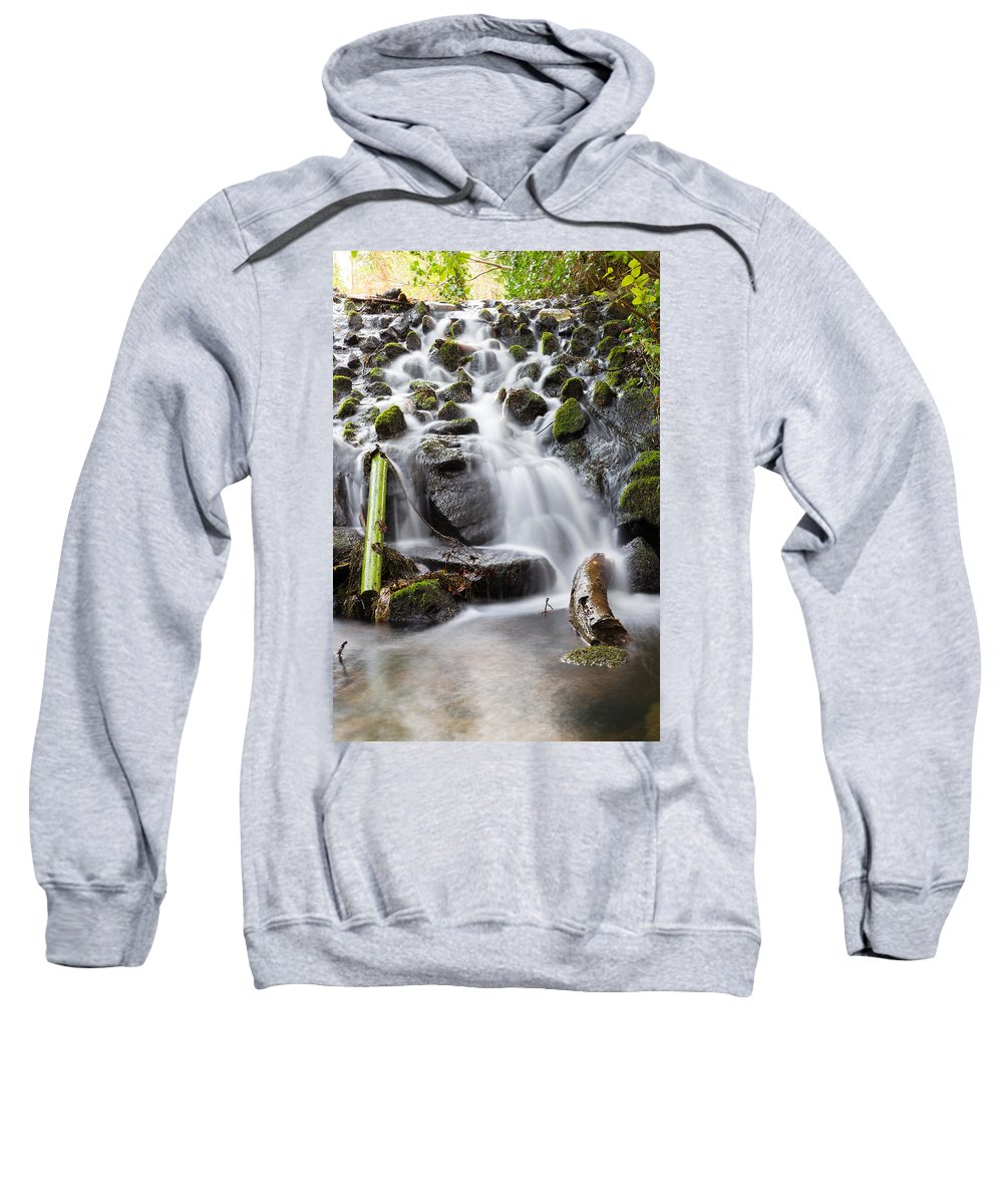 Dublin Sweatshirt featuring the photograph Little Cascade In Marlay Park Dublin by Semmick Photo