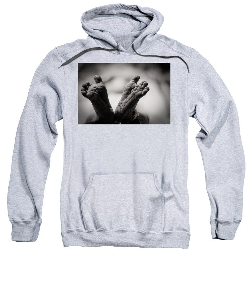 3scape Photos Sweatshirt featuring the photograph Little Feet by Adam Romanowicz