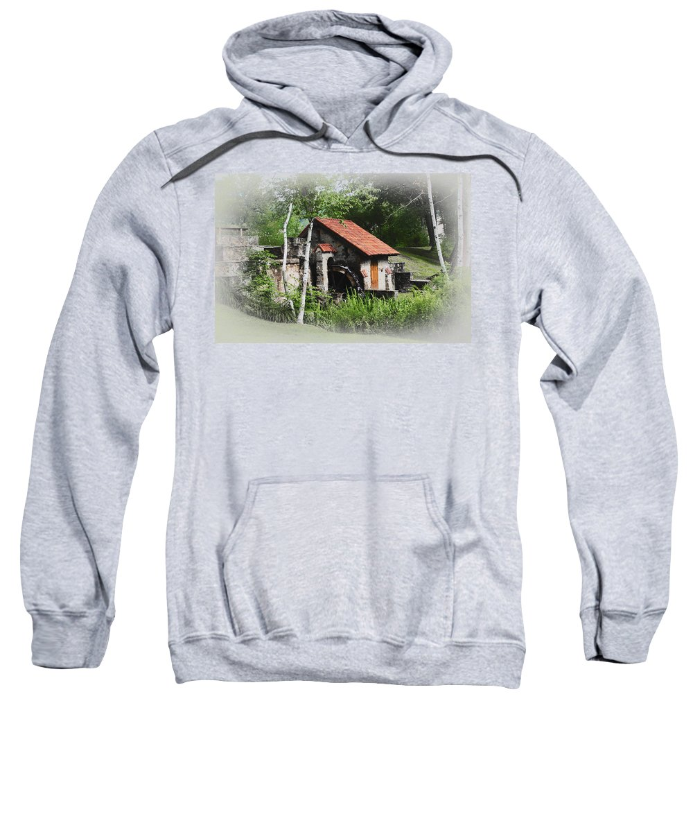 Little Sweatshirt featuring the photograph Little Mill Eastern State College - Faded by Bill Cannon