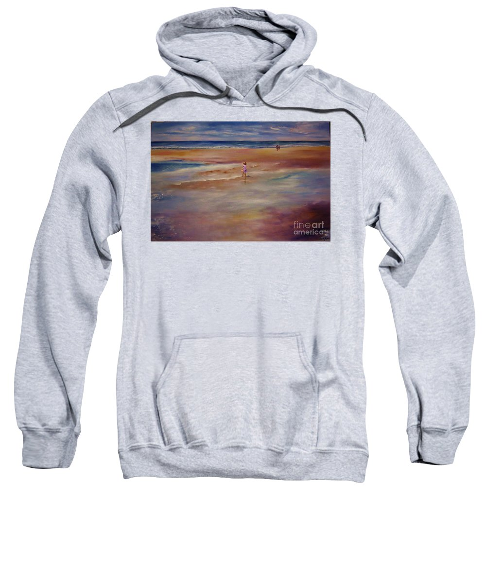 Child Sweatshirt featuring the painting Little Wanderer by Sandy Ryan