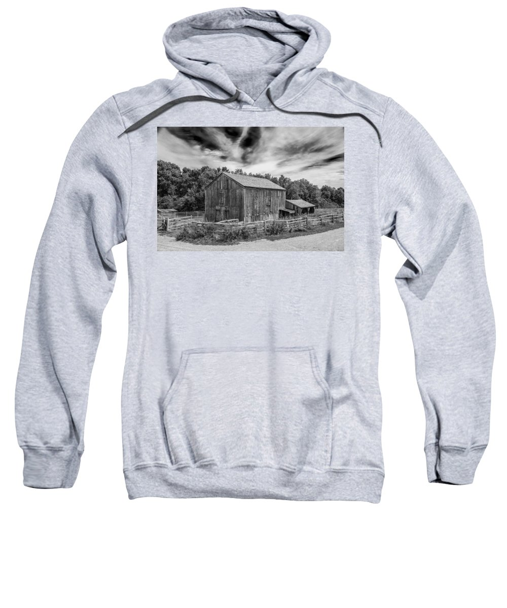 Colonial Buildings Sweatshirt featuring the photograph Livery Barn 17834 by Guy Whiteley