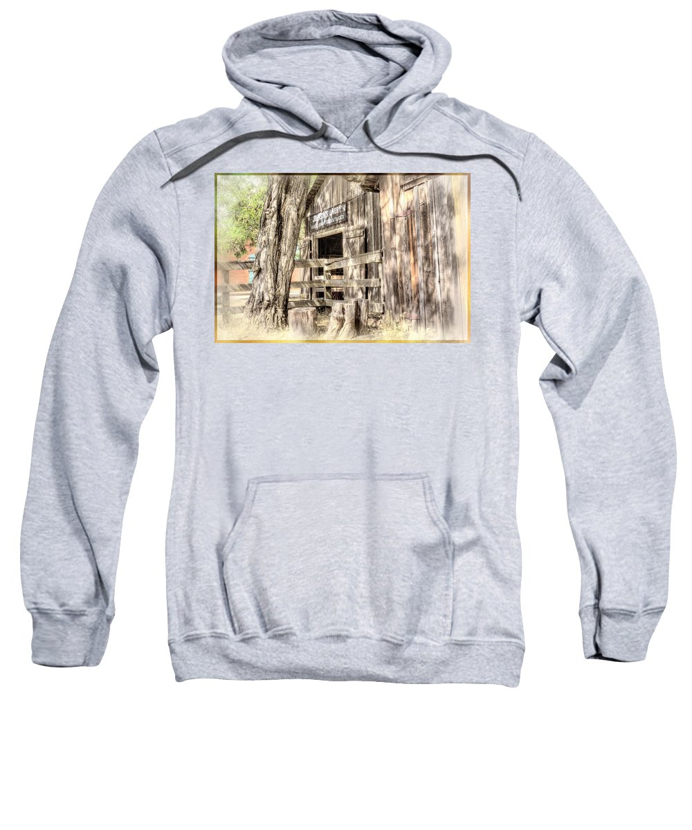 Livery Sweatshirt featuring the digital art Livery by Georgianne Giese