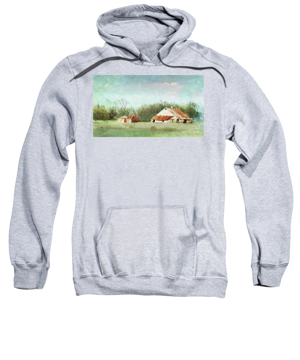Farm Sweatshirt featuring the photograph Living In The Past by Betty LaRue