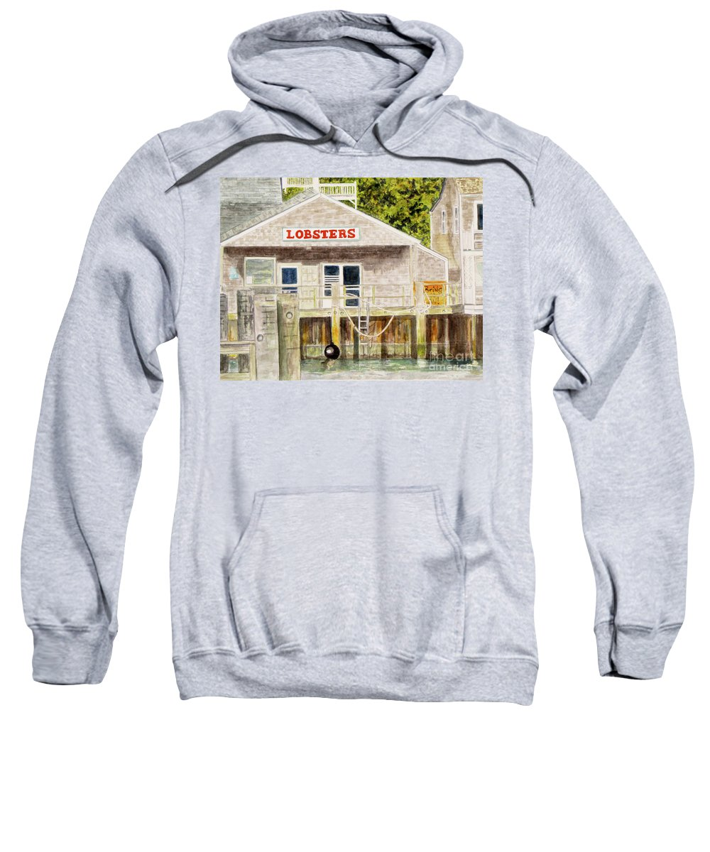 Lobster Shack Sweatshirt featuring the painting Lobster Shack by Carol Flagg