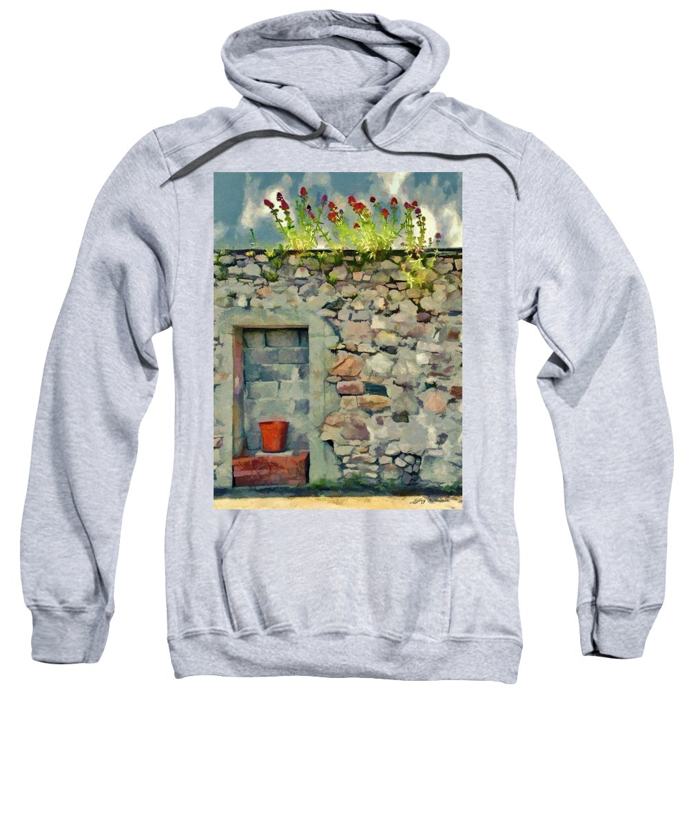 Flower Sweatshirt featuring the painting Location With A View by Jeffrey Kolker