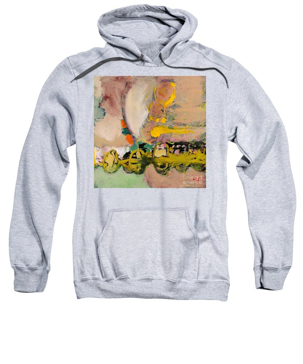 Landscape Sweatshirt featuring the painting Locomotion by Allan P Friedlander