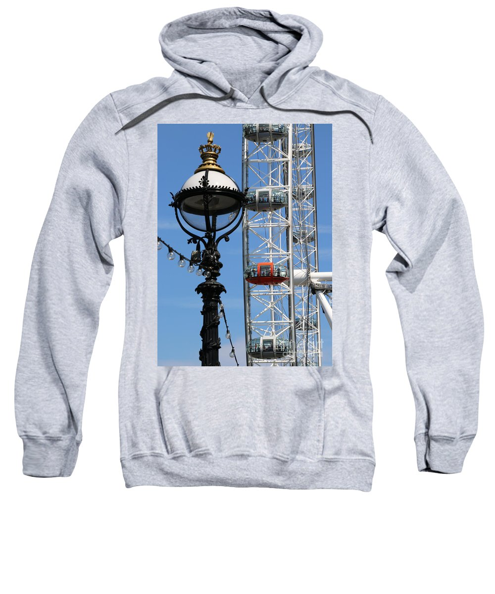 London Sweatshirt featuring the photograph London Eye 5531 by Jack Schultz