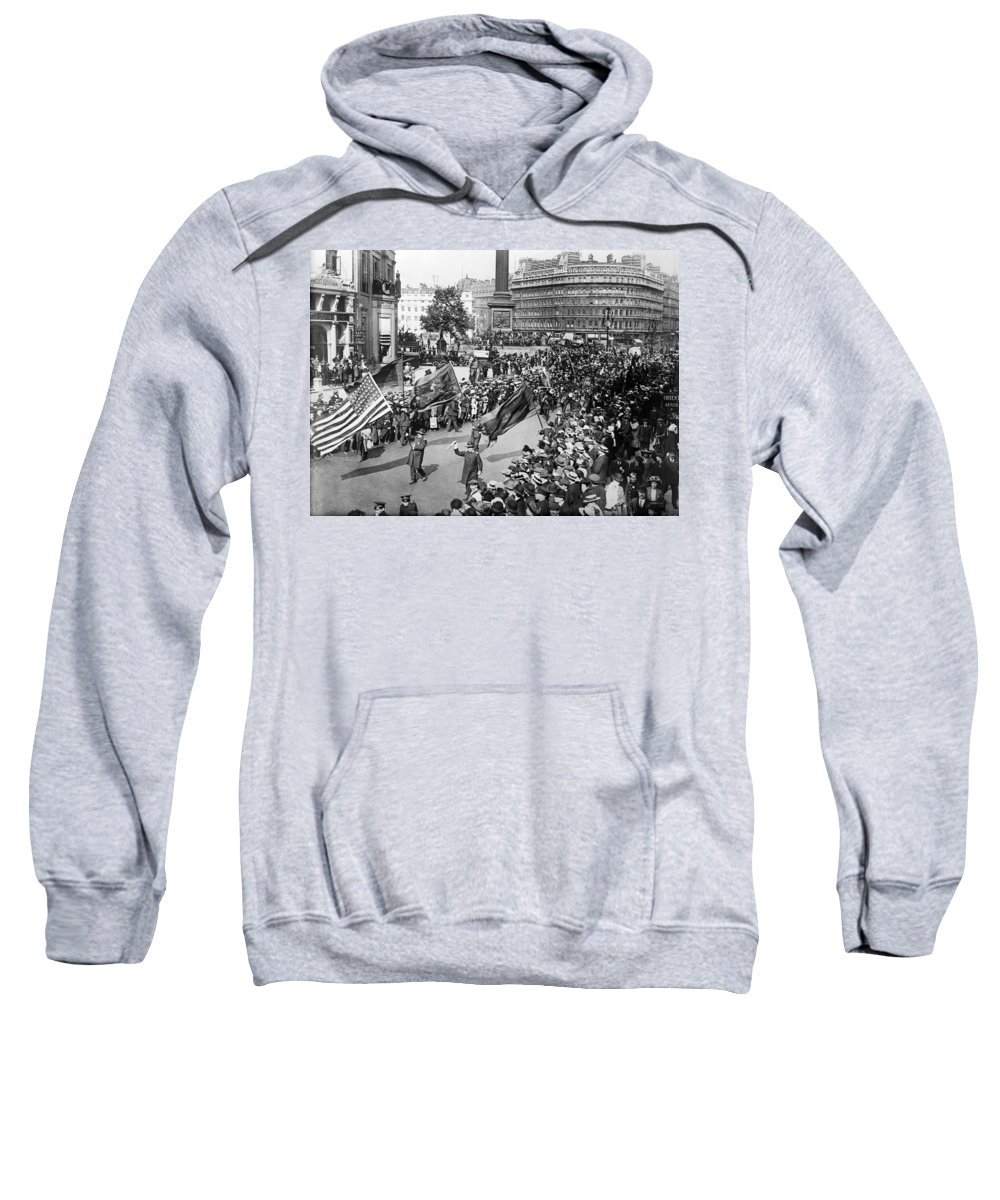 1915 Sweatshirt featuring the photograph London Parade, C1915 by Granger