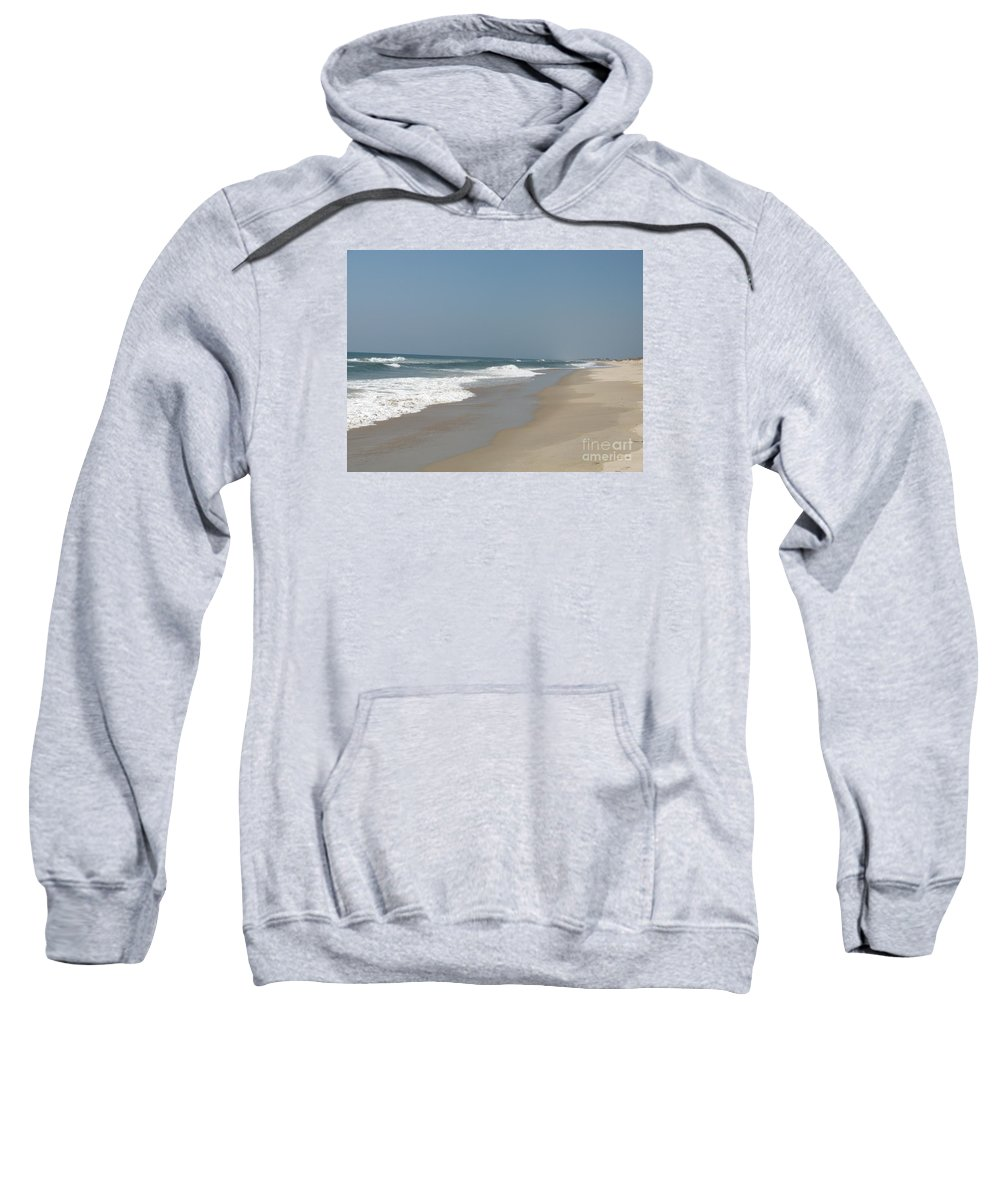 Beach Sweatshirt featuring the photograph Lonely Beach On Cape Hatteras by Christiane Schulze Art And Photography