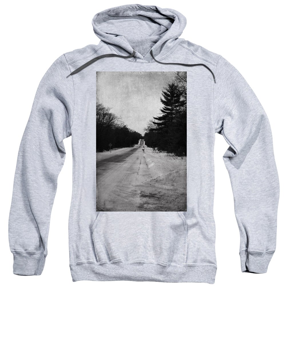 Atmospheric Sweatshirt featuring the photograph Lonely Road by Jacqui Hall