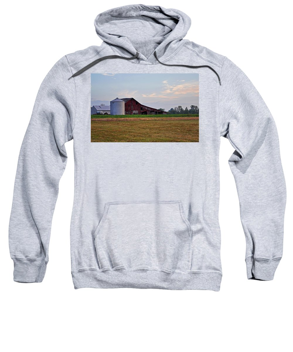 Barn Sweatshirt featuring the photograph Long Ago by Brittany Horton