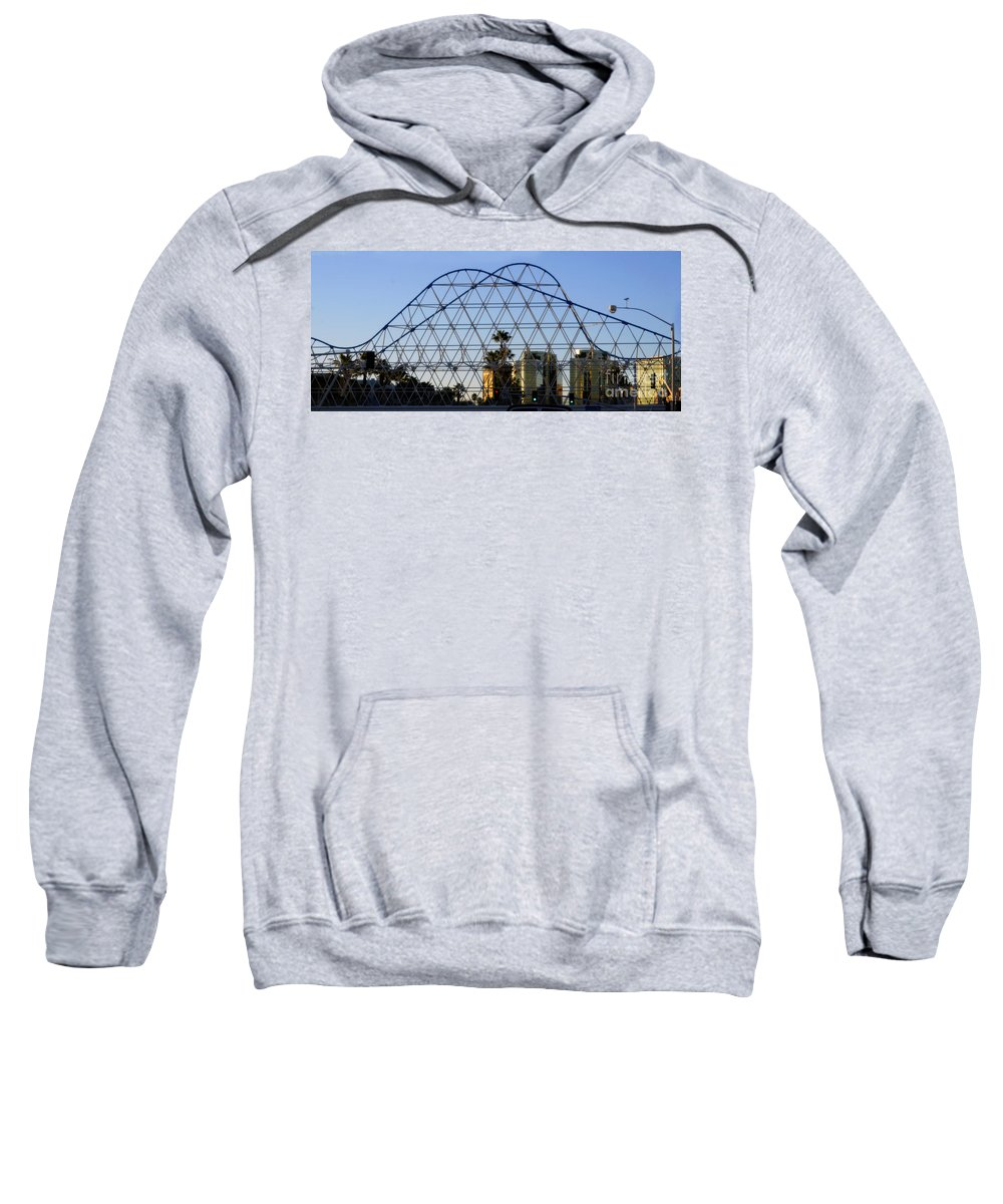 Clay Sweatshirt featuring the photograph Long Beach Lines by Clayton Bruster