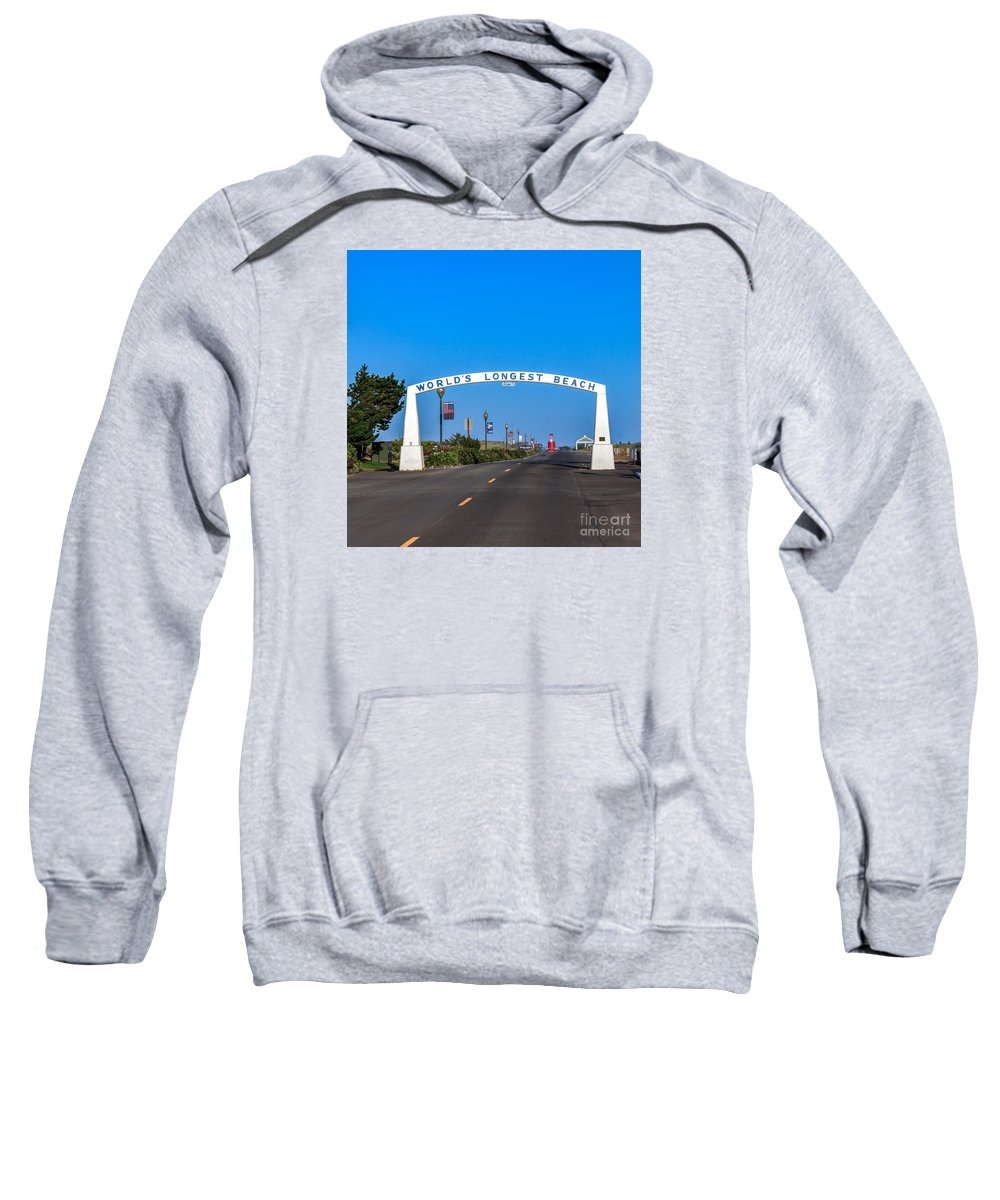 Washington Sweatshirt featuring the photograph Long Beach by Robert Bales