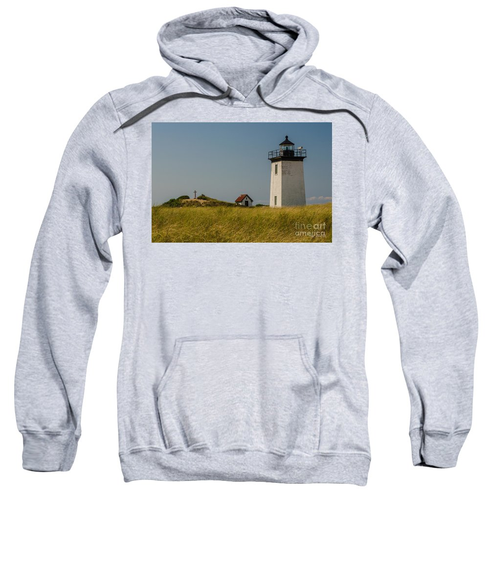 Long Point Sweatshirt featuring the photograph Long Point Lighthouse by Pat Lucas