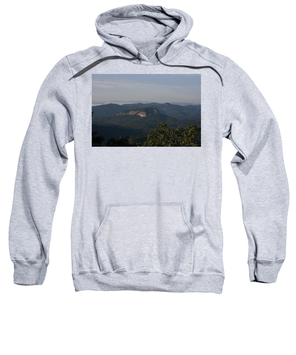 North Carolina Sweatshirt featuring the photograph Looking Glass Mountain by Stacy C Bottoms