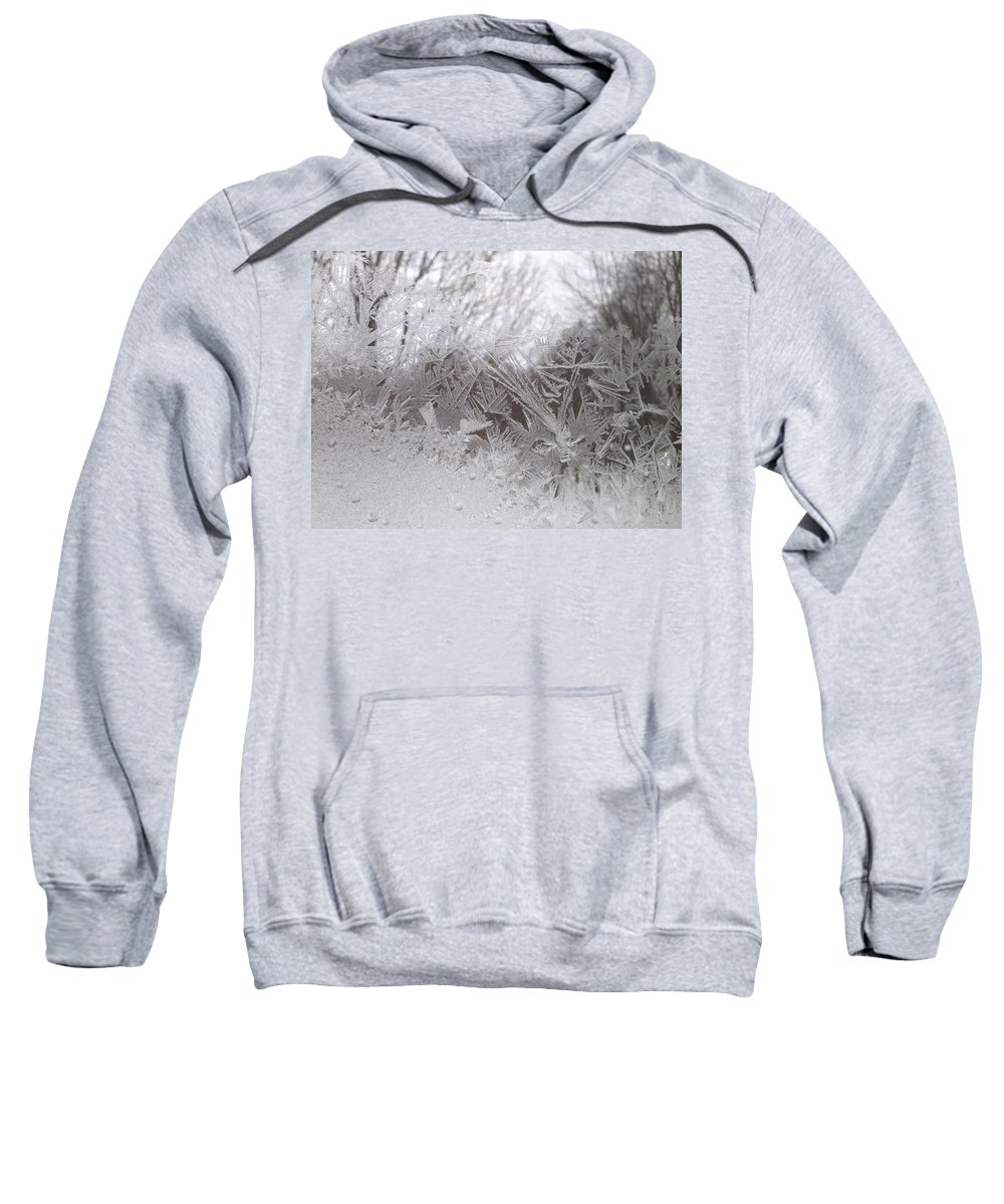 Ice Sweatshirt featuring the photograph Looking Through The Frost Iv by Tiffany Erdman