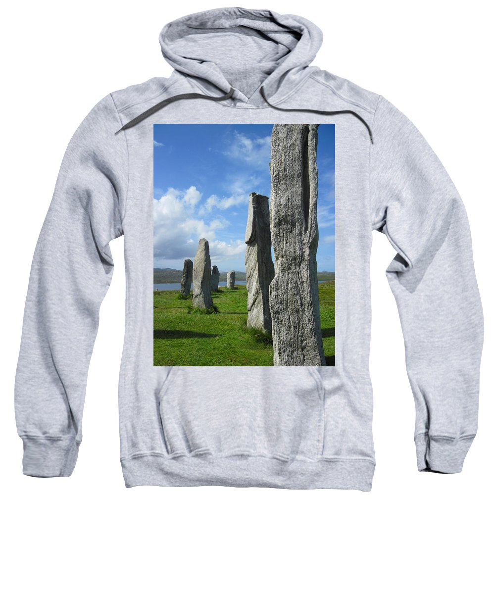 Callanish Inner Circle Sweatshirt featuring the photograph Looking West At Callanish by Denise Mazzocco
