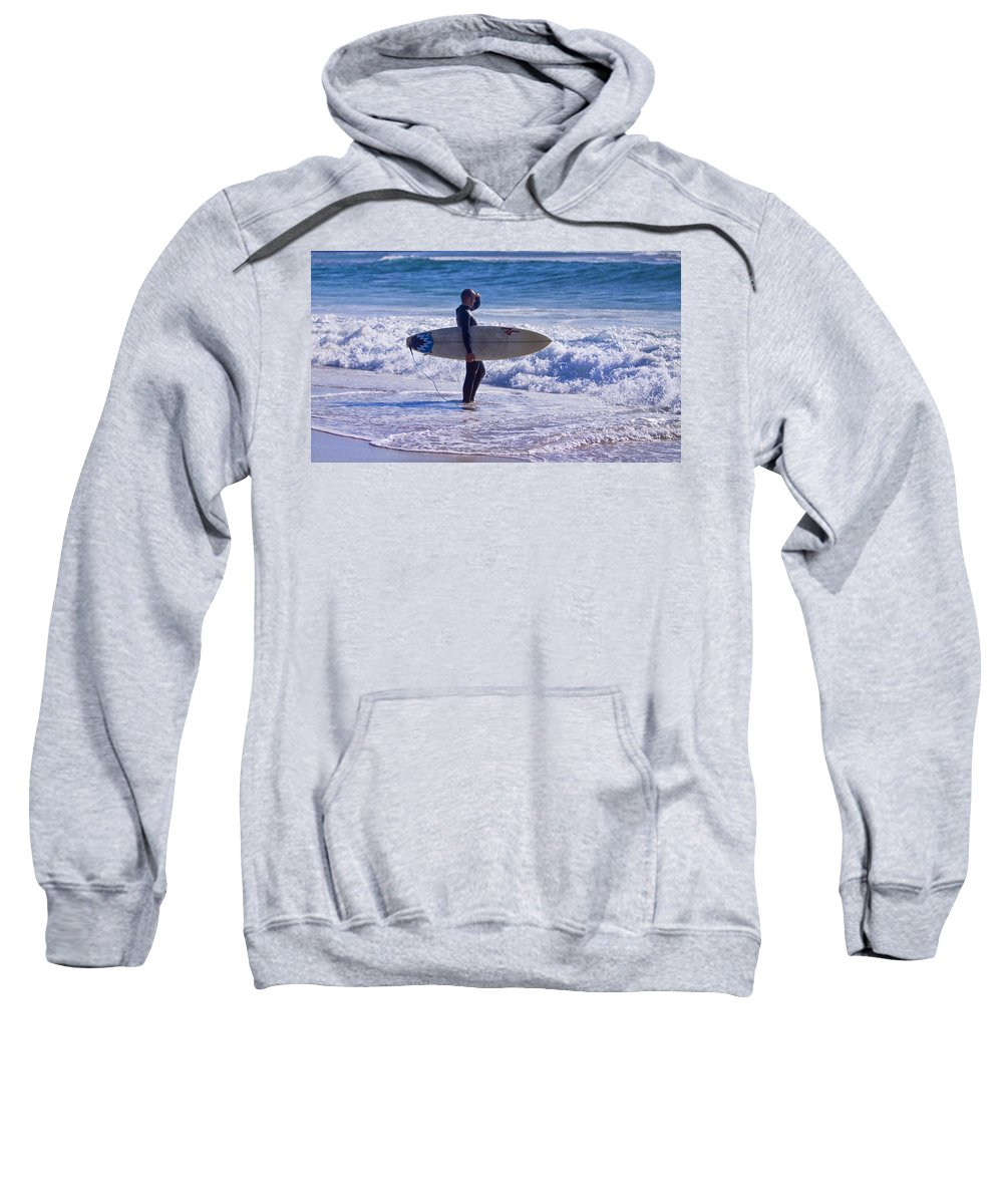 Surf Sweatshirt featuring the photograph Looking West by Michelle Wrighton