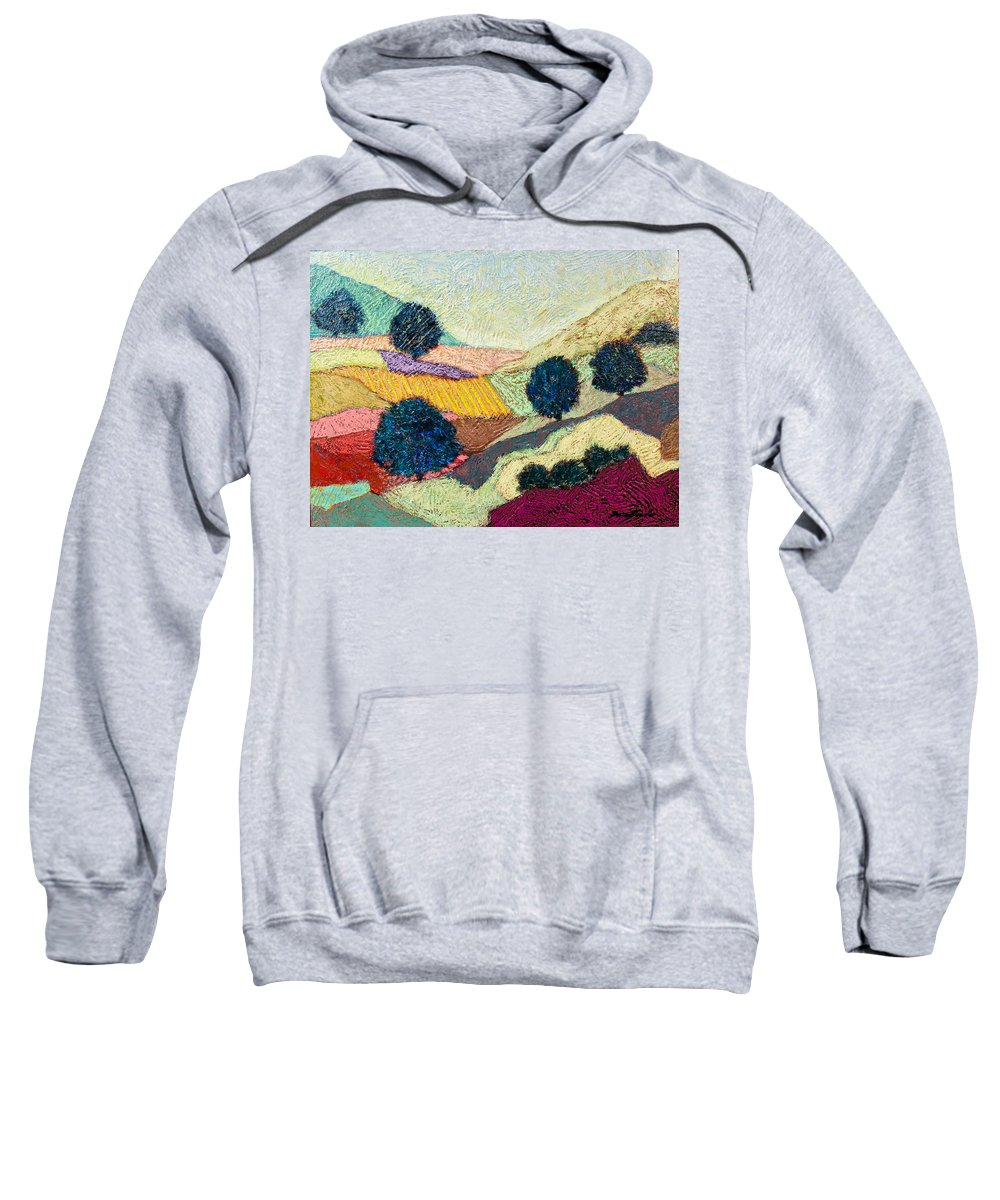 Landscape Sweatshirt featuring the painting Lost Valley by Allan P Friedlander