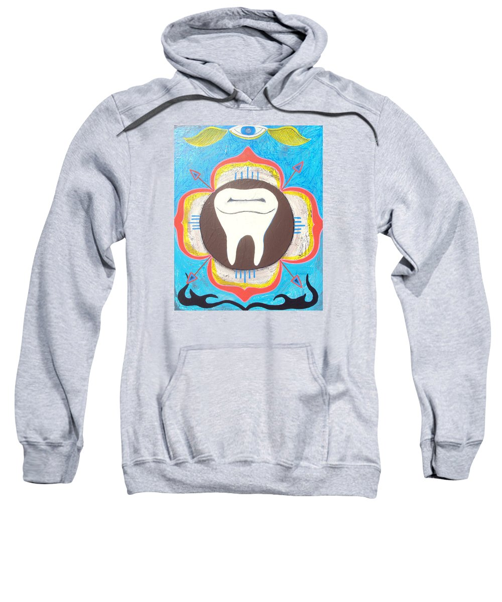 Lotus Sweatshirt featuring the painting Lotus Molar by Shawn Jones