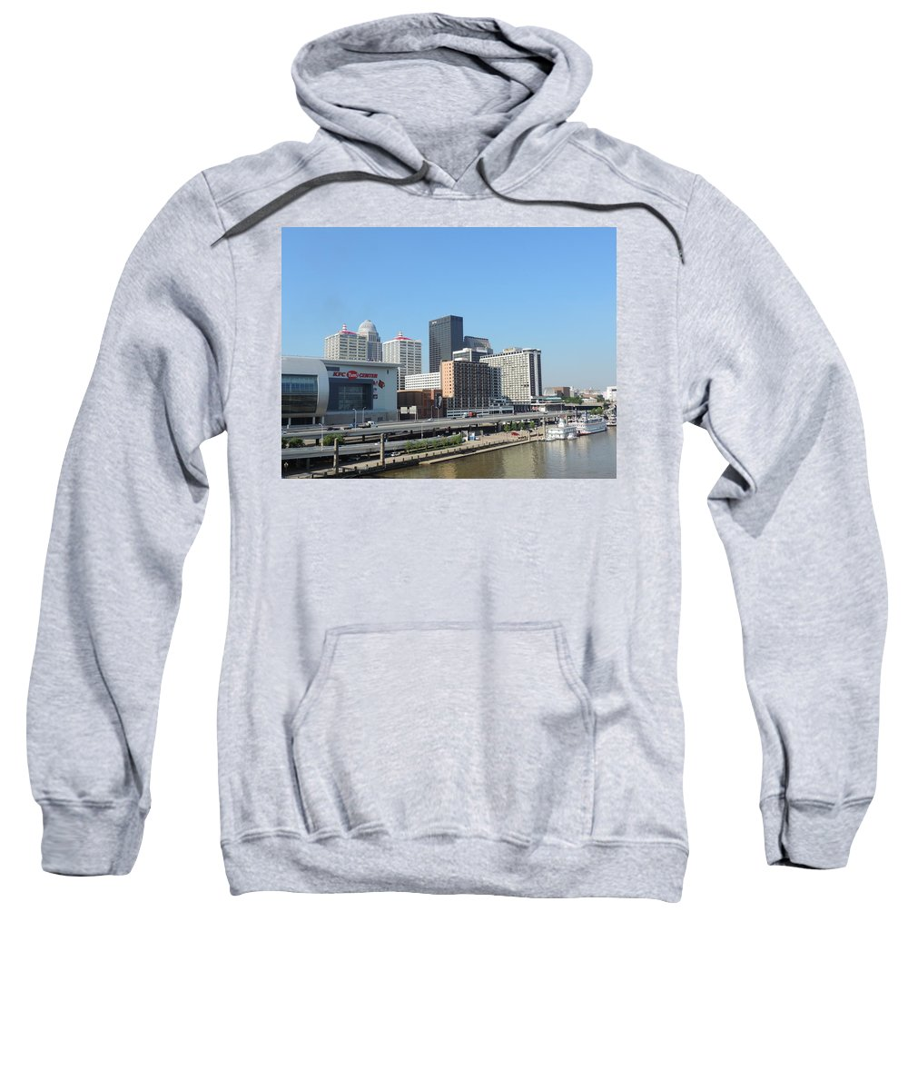 City Sweatshirt featuring the photograph Louisville Skyline by Cityscape Photography