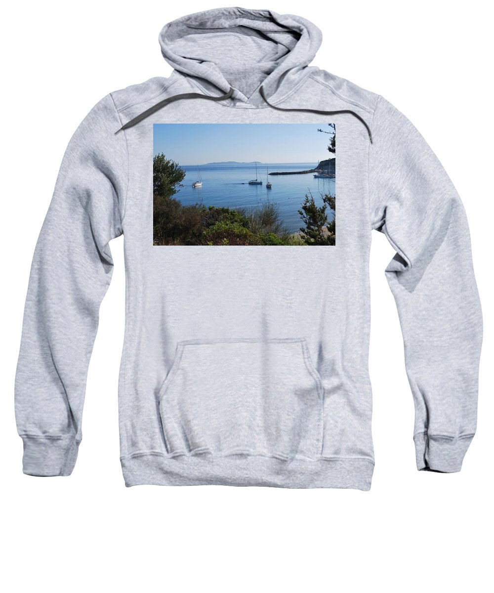 Loutsi Sweatshirt featuring the photograph Loutsi Bay 5 by George Katechis