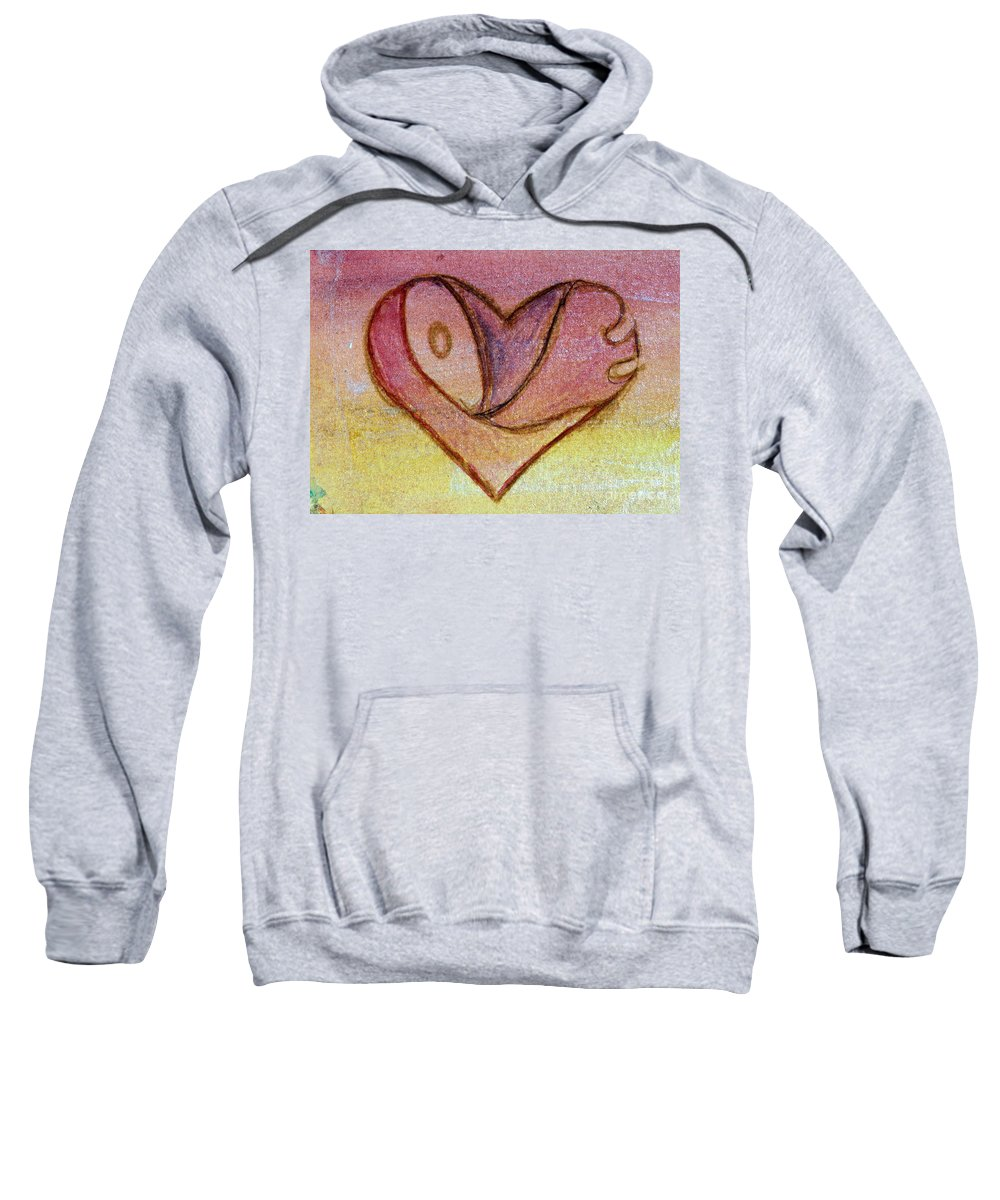 Design Sweatshirt featuring the painting Love Heart 1 by Donna Walsh