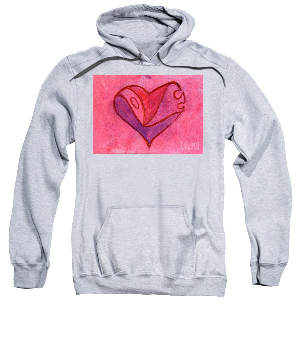 Design Sweatshirt featuring the painting Love Heart 6 by Donna Walsh