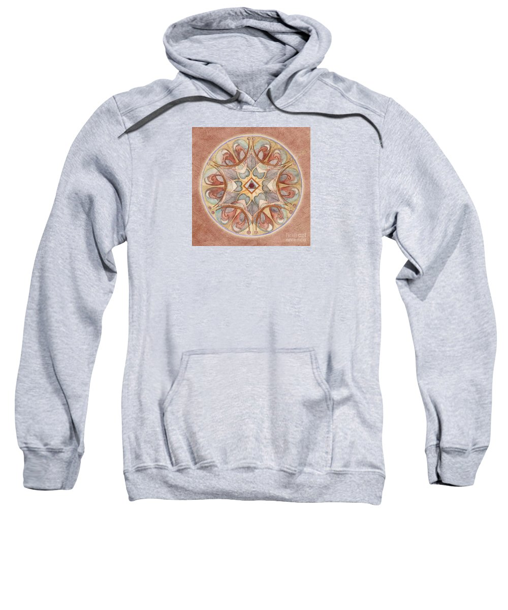 Mandala Art Sweatshirt featuring the painting Love Mandala by Jo Thomas Blaine