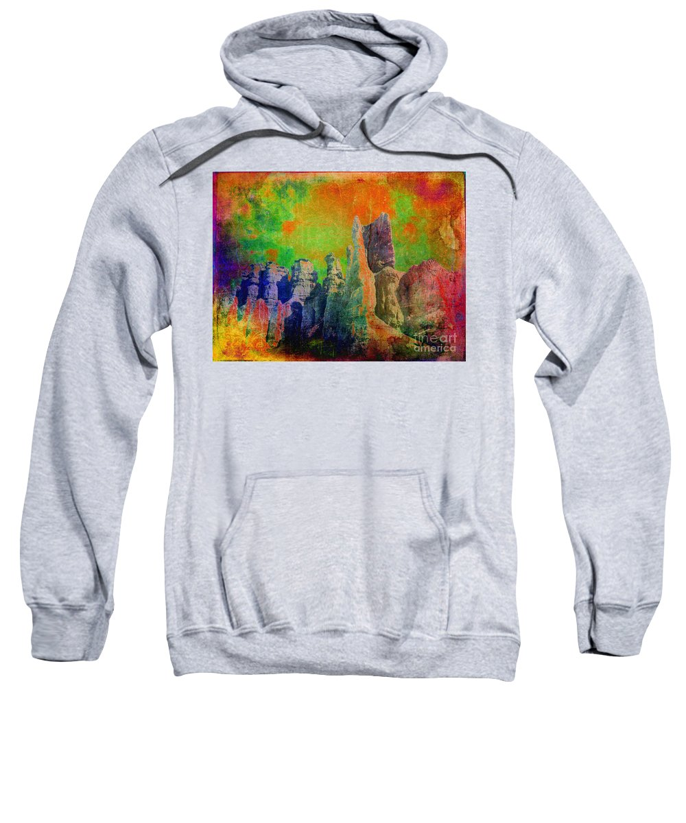 Abstract Sweatshirt featuring the photograph Lucy In The Sky... by Meghan at FireBonnet Art