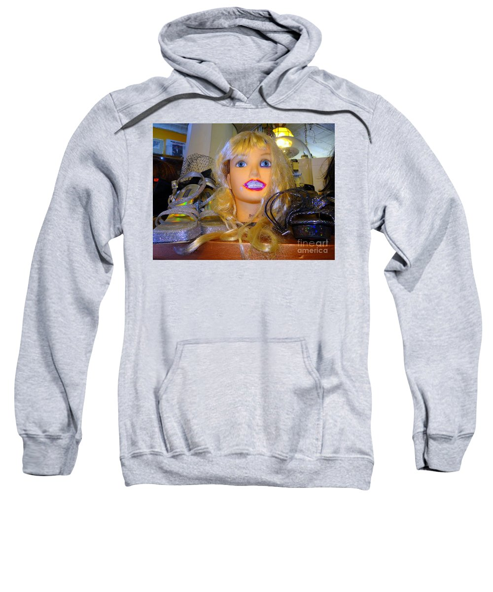 Mannequins Sweatshirt featuring the photograph Luscious Lips by Ed Weidman