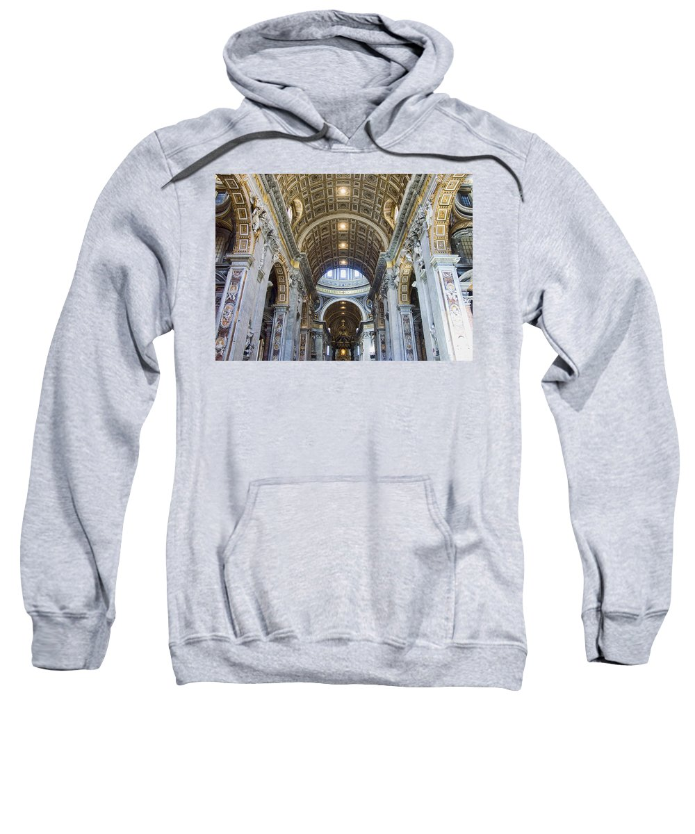 Madernos Nave Ceiling Sweatshirt featuring the photograph Maderno's Nave Ceiling by Ellen Henneke