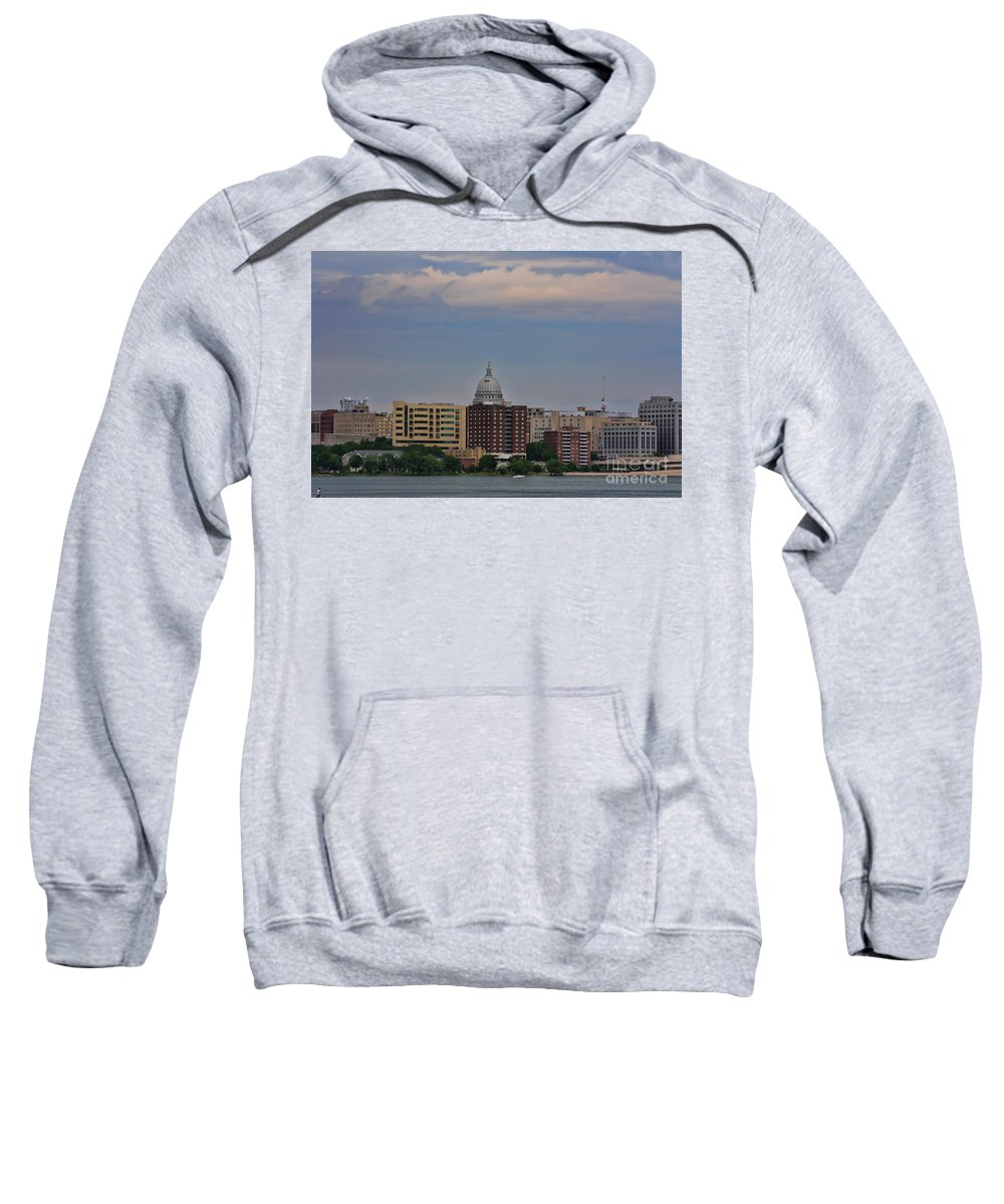 Madison Sweatshirt featuring the photograph Madison Skyline by Tommy Anderson