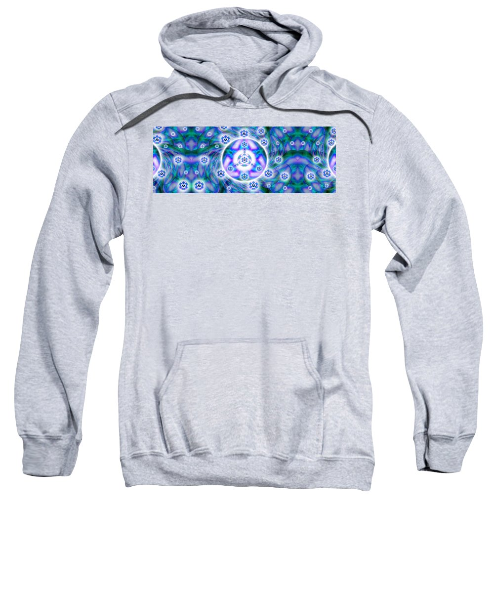 Sacredlife Mandalas Sweatshirt featuring the drawing Magnetic Fluid Harmony Banner by Derek Gedney