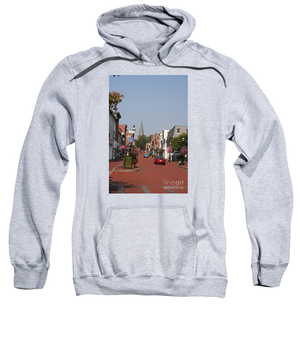 Road Sweatshirt featuring the photograph Main Street In Downtown Annapolis by Christiane Schulze Art And Photography