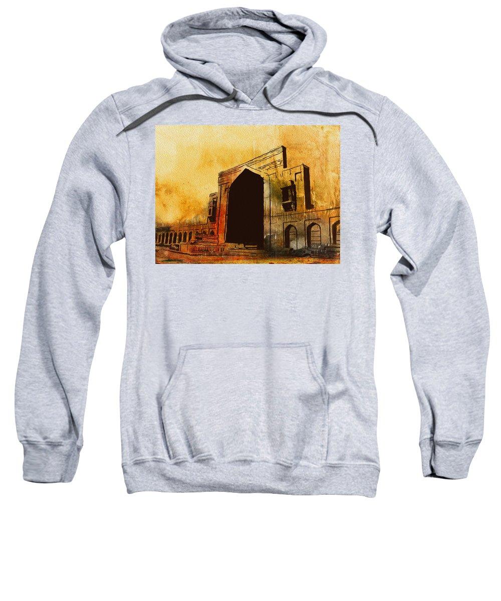 Pakistan Sweatshirt featuring the painting Makli Hill by Catf